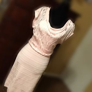 NWT womens pink bodycon sexy dress size large
